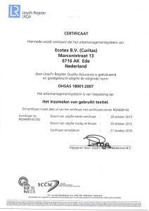 OHSAS 18001 certificaat